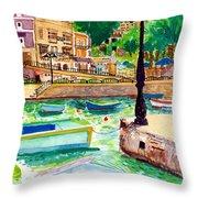 Spinola Bay Plein Air Throw Pillow