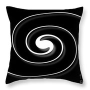 Spiral Black Throw Pillow