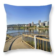 Spiral Bridge Walkway To The Esplanade Throw Pillow