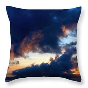 Spiral Clouds Throw Pillow