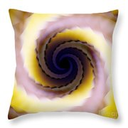 Spiral Throw Pillow by Elizabeth McTaggart