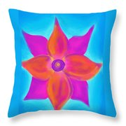 Spiral Flower Throw Pillow