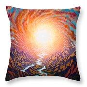 Spiral Glow Throw Pillow