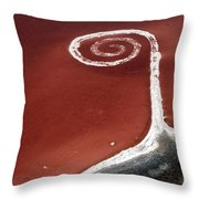 Spiral Jetty From The Air Throw Pillow