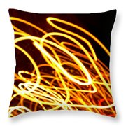 Spiral Light Among Dwellers About The City 2 Throw Pillow
