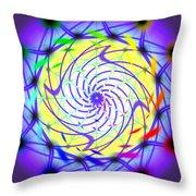 Spiral Light Hexagon Throw Pillow
