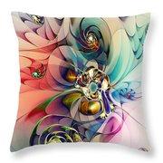 Spiral Mania 3 Throw Pillow