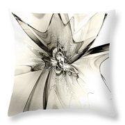 Spiral Mania 4 - Black And White Throw Pillow