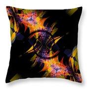 Spiral Of Burning Desires Throw Pillow