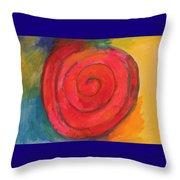 Spiral Of Life Throw Pillow