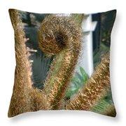 Spiral Plant Throw Pillow