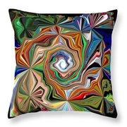 Spiral Splendor Throw Pillow