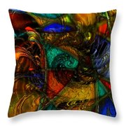 Spiral Stained Glass Throw Pillow