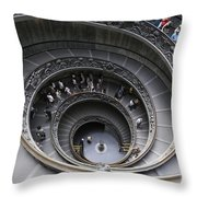 Spiral Staircase By Giuseppe Momo At The Vatican Museum. Rome. Italy Throw Pillow