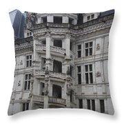 Spiral Staircase Chateau Blois  Throw Pillow
