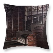 Spiral Staircase Depot Throw Pillow