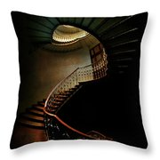 Spiral Staircase In Green And Red Throw Pillow