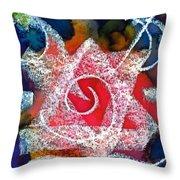 Spiral Star Throw Pillow