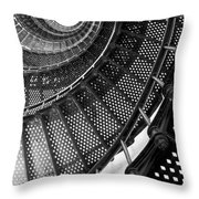Spiral Steps Throw Pillow