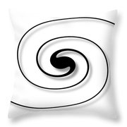 Spiral White Throw Pillow
