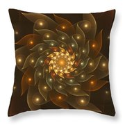 Spiral Wings Throw Pillow