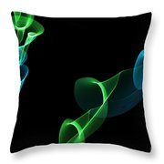 Spiraling Out Of Control Throw Pillow