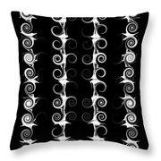 Spirals And Swirls Black And White Pattern  Throw Pillow