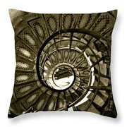 Spirals Down Throw Pillow