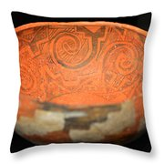 Spirals In Polychrome Throw Pillow