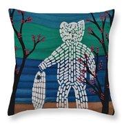 Spirit Bear Bella Coola Throw Pillow