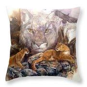 Spirit Cat Throw Pillow