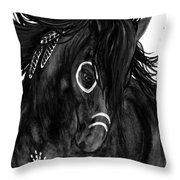 Spirit Feathers Horse Throw Pillow