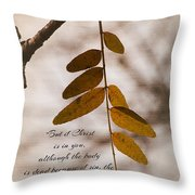Spirit Is Life Throw Pillow