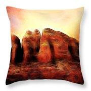 Spirit Mountain Throw Pillow