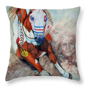 Spirit Of A War Pony  Throw Pillow