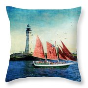 Spirit Of Buffalo Throw Pillow by Lianne Schneider