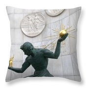 Spirit Of Detroit Monument Throw Pillow