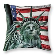 Spirit Of Freedom Throw Pillow