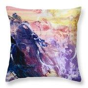 Spirit Of Life - Abstract 1 Throw Pillow