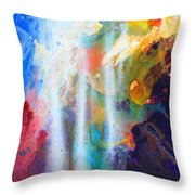 Spirit Of Life - Abstract 5 Throw Pillow