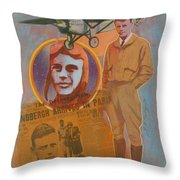 Lindbergh, Spirit Of St. Louis Throw Pillow