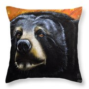 Spirit Of The Bear Throw Pillow