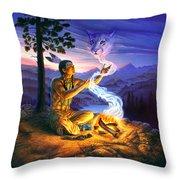 Spirit Of The Cougar Throw Pillow