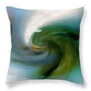 Spirit Of The White Dolphin Throw Pillow