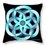 Spirit Of Water 1 - Blue Throw Pillow