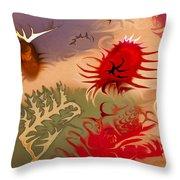 Spirits And Roses Throw Pillow by Omaste Witkowski