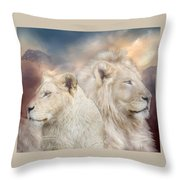 Spirits Of Light Throw Pillow by Carol Cavalaris