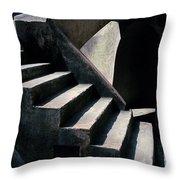 Spiritual Chiaroscuro Throw Pillow