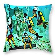 Spiritual Experience Of Scuba Diving Throw Pillow