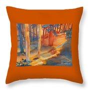 Spiritual Forest Throw Pillow